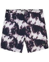 Wesc Hampus Tie-dye Shorts - Black