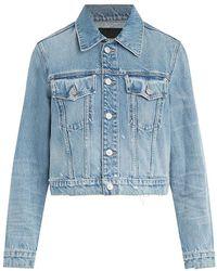 Hudson Jeans Cropped Denim Trucker Jacket - Blue