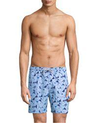 Theory - Cosmos Geoline Swim Shorts - Lyst