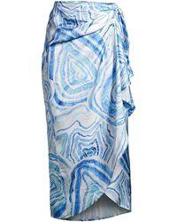 Suboo Agate Drape Wrap Skirt - Blue