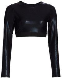 Heroine Sport Long-sleeve Cropped Top - Black
