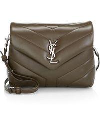 b11ac528b3af Lyst - Saint Laurent Monogram Small Grained Leather Chain Shoulder ...