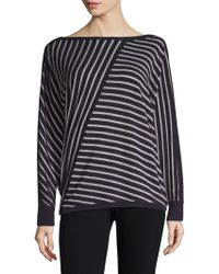 Lafayette 148 New York - Directional Striped Top - Lyst