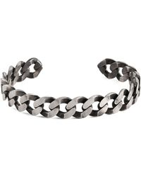 Tateossian - Sterling Silver Chain Cuff Bracelet - Lyst