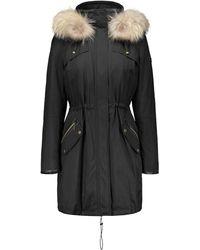 Tumi Down-blend & Fox Fur-trim Parka - Black