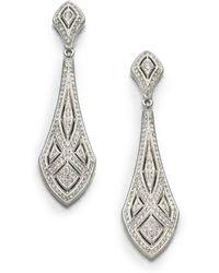 Adriana Orsini - Art Deco Crystal Drop Earrings - Lyst