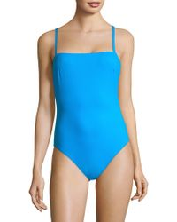 X By Gottex Women's Au Natural One-piece Tank Swimsuit - Turquoise - Size 44 (14) - Blue