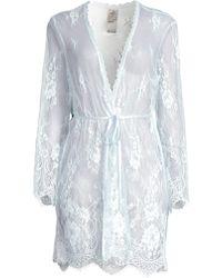 Jonquil Dalia Lace Robe - Blue