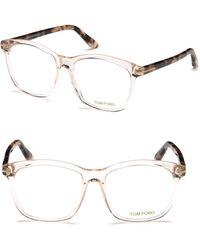 Tom Ford - 54mm Square Eyeglasses - Lyst