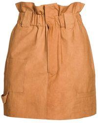 Fendi Paperbag Waist Cotton Skirt - Orange