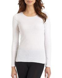 Hanro - Cotton Seamless Long-sleeve Top - Lyst