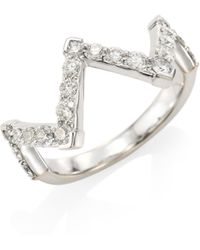 Hearts On Fire | Triplicity Diamond, Crystal & 18k White Gold Pointed Diamond Ring | Lyst