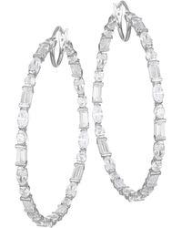 Adriana Orsini Large Mixed-shape Cubic Zirconia Hoop Earrings - Multicolour