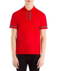 Versace - Contrast Logo Polo Tee - Lyst