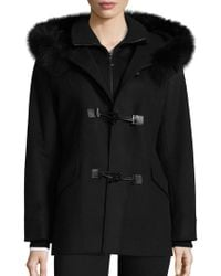 George Simonton - Fox Fur Trim Duffle Coat - Lyst