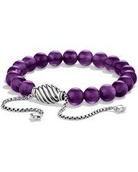 David Yurman Spiritual Beads Bracelet - Purple