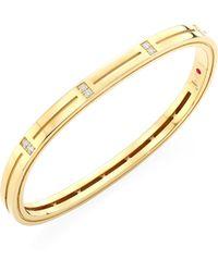 Roberto Coin - Portofino Diamond & 18k Yellow Gold Bangle - Lyst