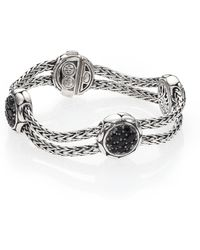John Hardy - Kali Black Sapphire & Sterling Silver Four-station Bracelet - Lyst