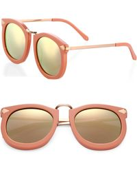 Karen Walker Super Lunar 53mm Cat's-eye Sunglasses - Pink