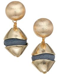 Akola Raffia Drop Earrings - Multicolor
