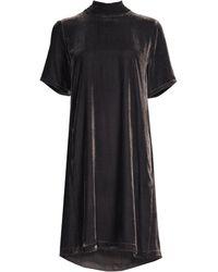 107fe623d51 Lyst - Eileen Fisher Handkerchief Hem Tunic Dress in Black