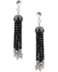 Coomi - Vitality Diamond, Labradorite, Crystal & Sterling Silver Tassel Earrings - Lyst