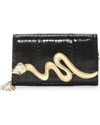 Judith Leiber - Serpent Snakeskin Bag - Lyst