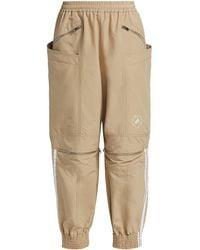 adidas By Stella McCartney Adidas X Stella Mccartney June Khaki Zip Pants - Natural