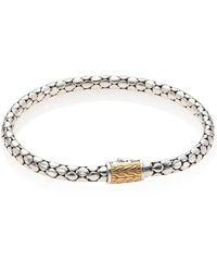 John Hardy | Dot Sterling Silver & 18k Gold Slim Chain Bracelet | Lyst