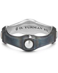 David Yurman - Anvil Band Ring - Lyst