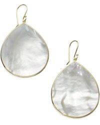 Ippolita - Polished Rock Candy Mother-of-pearl & 18k Yellow Gold Large Teardrop Earrings - Lyst