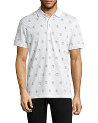 AG Green Label - Short-sleeve Neat-print Polo - Lyst