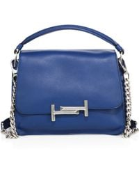 Tod's - Double T Small Leather Messenger Bag - Lyst