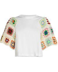 Sea Crochet Combo T-shirt - Multicolor