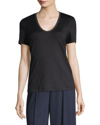 Lafayette 148 New York - Grace Chain-trim Top - Lyst