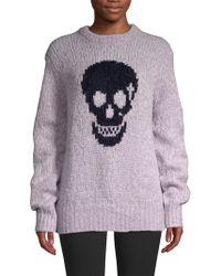 360cashmere - Madonna Skull Wool-blend Sweater - Lyst