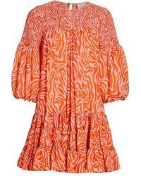 Cinq À Sept - Rika Billowed-sleeve Shift Dress - Lyst