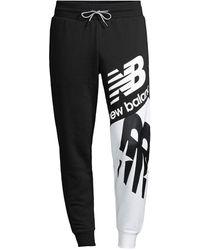 New Balance Nb Athletics Splice Track Pants - Black