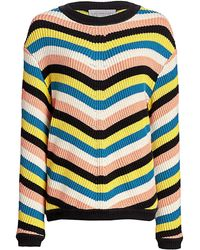 Victor Glemaud Striped Long-sleeve Sweater - Multicolor