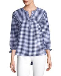 Vineyard Vines - Gingham Plaid-print Top - Lyst