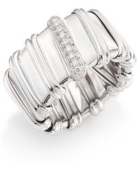 Roberto Coin - Nabucco Diamond & 18k White Gold Ring - Lyst