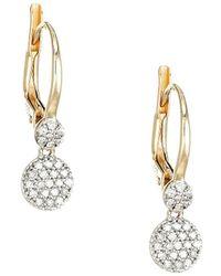 Phillips House Infinity 14k Yellow Gold & Diamond Micro Double-drop Earrings - Metallic
