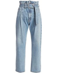 Agolde Reworked 90s Paper Bag High-rise Jeans - Blue
