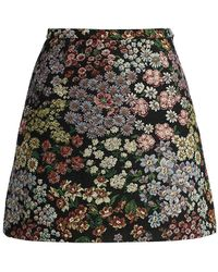 Giambattista Valli Floral Mini-skirt - Black