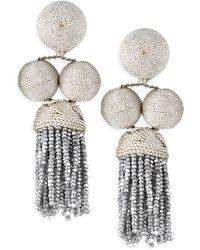 Rebecca de Ravenel - Cha Cha Short Tassel Earrings - Lyst