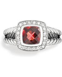 David Yurman Petite Albion Ring With Diamonds - Red