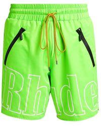Rhude Rh Logo Shorts - Green
