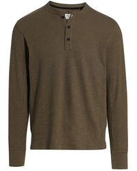Rag & Bone Classic Long-sleeve Henley - Green