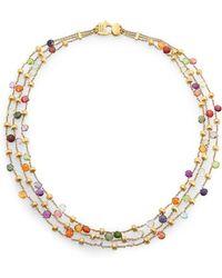 Marco Bicego | Paradise Semi-precious Multi-stone & 18k Yellow Gold Three-row Necklace | Lyst