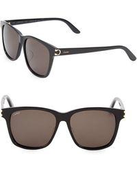 6d2ff21c6e Cartier 62mm Metal Aviator Sunglasses in Metallic for Men - Lyst